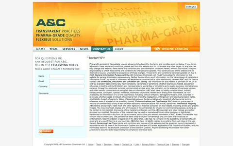 Screenshot of Terms Page acamchem.com - Pharmaceutical excipients supplier A and C - Terms of Use - captured Oct. 3, 2014