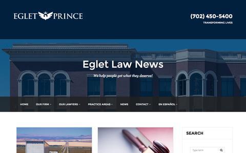 Screenshot of Press Page egletlaw.com - NEWS - egletlaw.com - captured Sept. 29, 2015