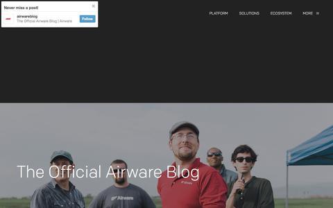 Screenshot of Blog airware.com - The Official Airware Blog | Airware - captured Dec. 5, 2015
