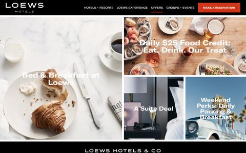 Hotel Deals & Special Offers | Loews Hotels & Resorts