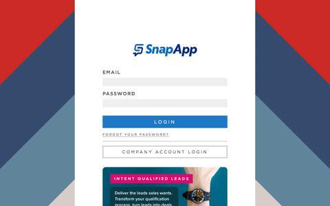 Screenshot of Login Page snapapp.com - SnapApp - captured July 17, 2019
