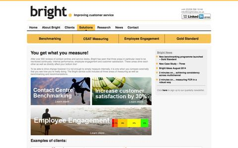 Screenshot of Products Page brightindex.co.uk - Solutions   Bright - captured Oct. 5, 2014