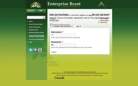 Screenshot of Login Page enterprisebrant.com - User account | Enterprise Brant - captured Sept. 26, 2014