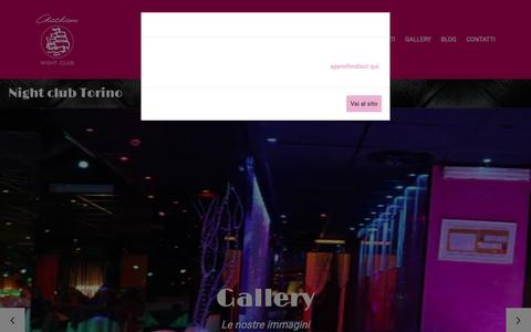Screenshot of Home Page chatham.it - New Chatham | Night club Torino - captured Oct. 28, 2018