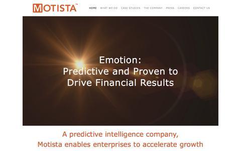 Screenshot of Home Page motista.com - Motista - captured Dec. 4, 2015