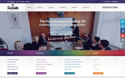 Screenshot of Home Page focus-grp.co.uk - Focus Group - UK Business Communications Solution - captured Oct. 7, 2017