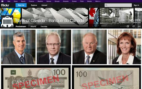 Screenshot of Flickr Page flickr.com - Flickr: Bank of Canada - Banque du Canada's Photostream - captured Oct. 26, 2014