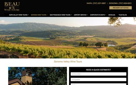 Sonoma Valley Wine Tours and Luxury Private Wine Tasting