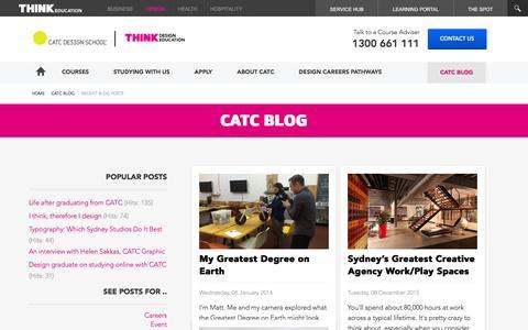 Screenshot of Blog catc.edu.au - CATC Blog - CATC Blog - captured Jan. 24, 2016