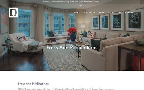 Screenshot of Press Page litadirks.com - Press and Publications - Lita Dirks & Co. Interior Design and Merchandising Firm - captured Aug. 20, 2017