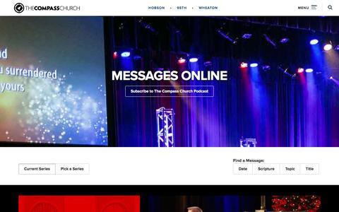 Screenshot of Press Page thecompass.net - Online Sermons   The Compass Church - captured Dec. 19, 2015