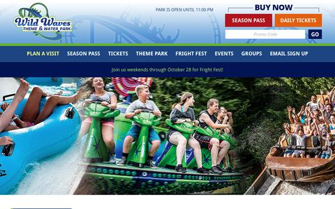 Screenshot of Hours Page wildwaves.com - Park Hours | Wild Waves Theme & Water Park - captured Oct. 20, 2018