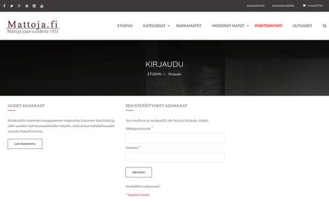 Screenshot of Login Page mattoja.fi - Asiakaskirjautuminen - captured March 8, 2017