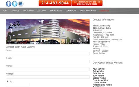 Screenshot of Privacy Page Contact Page earthautoleasing.com - Contact Us - captured Dec. 6, 2015