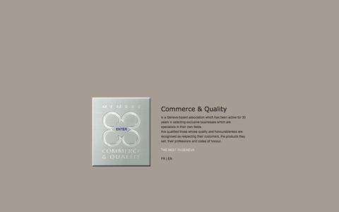 Screenshot of Home Page commerce-qualite.com - Businesses in Geneva, Commerce & Qualité | Le meilleur à Genève | The best in Geneva - captured June 2, 2016
