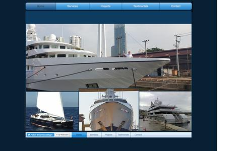 Screenshot of Home Page superyachtpainters.co.uk - TH MARINE SERVICES.CO.LTD - captured Feb. 14, 2016