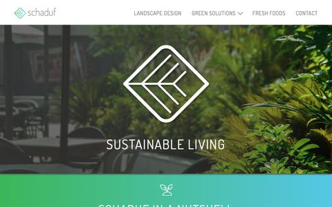 Screenshot of Home Page schaduf.com - Green Walls, Roof Gardens & Urban Eco- Products | Schaduf - captured Nov. 6, 2018