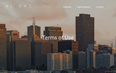Screenshot of Terms Page alightinc.com - Terms of Use - captured Nov. 20, 2016