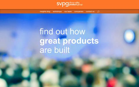 Screenshot of Home Page svpg.com - Silicon Valley Product Group || Silicon Valley Product Group - captured July 17, 2017