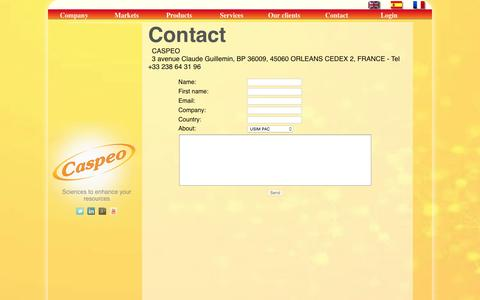 Screenshot of Contact Page caspeo.net - Contact - Caspeo - captured May 15, 2017