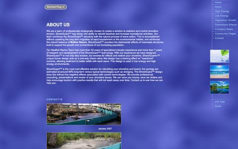 Screenshot of About Page seabullmarine.com - SeaBull Marine. Inc. - About Us - captured Nov. 19, 2016