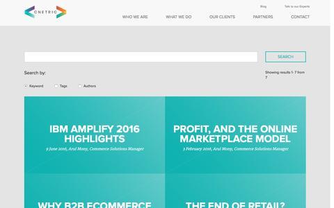 Screenshot of Blog cnetric.com - » Blog List Page - Cnetric - captured Nov. 7, 2016