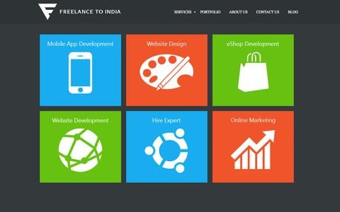 Screenshot of Home Page freelancetoindia.com - Website Design & Mobile Apps Development Company - Freelance To India - captured Oct. 6, 2014