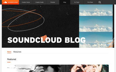 Screenshot of Blog soundcloud.com - SoundCloud » The Official SoundCloud Blog - captured May 29, 2019