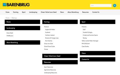 Screenshot of Site Map Page barenbrug.co.uk - Barenbrug UK // Sitemap - captured Aug. 1, 2018