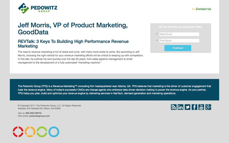 REVTalk: 3 Keys To Building High Performance Revenue Marketing