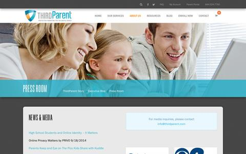 Screenshot of Press Page thirdparent.com - ThirdParent News | ThirdParent Media | ThirdParent - captured Sept. 30, 2014