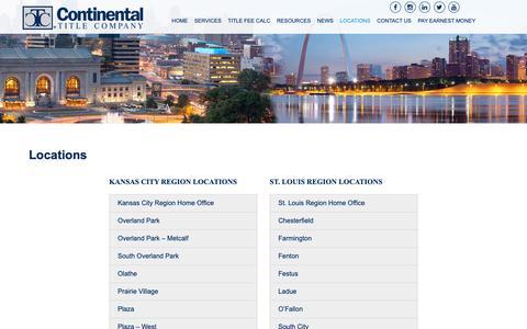 Screenshot of Locations Page ctitle.com - Locations - Continental Title Company - captured Dec. 15, 2018