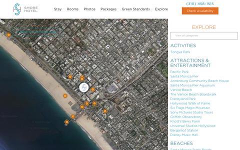Screenshot of Maps & Directions Page shorehotel.com - Map - Shore Hotel SM - captured Dec. 10, 2018