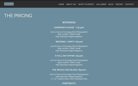 Screenshot of Pricing Page inthemomentphotography.ca - The Pricing | In the Moment Photography | Edmonton Wedding and Family Photographer | Wedding & Family Photographer serving Edmonton, Sherwood Park, St. Albert, Spruce Grove, Leduc, and the rest of Northern Alberta - captured Jan. 8, 2016