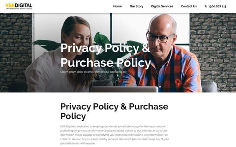 Privacy and Purchase Policy