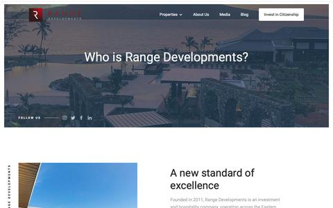 Screenshot of About Page FAQ Page rangedevelopments.com - About Range Developments - captured Oct. 20, 2018