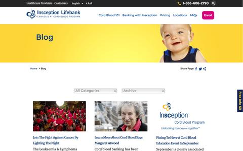 Screenshot of Blog insception.com - Blog Archives - Insception Lifebank Cord Blood Program Archive - Insception Lifebank Cord Blood Program - captured Nov. 3, 2014