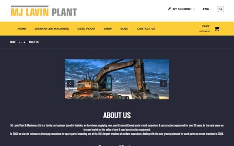 Screenshot of About Page mjlavinplant.co.uk - About Us - captured Nov. 18, 2016