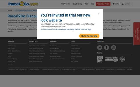 Parcel Delivery Discounts & Voucher Codes | Parcel2Go.com