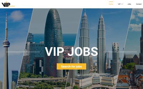 Screenshot of Jobs Page vipresponse.nl - Home - Jobs @ VIP Response - captured Nov. 12, 2016