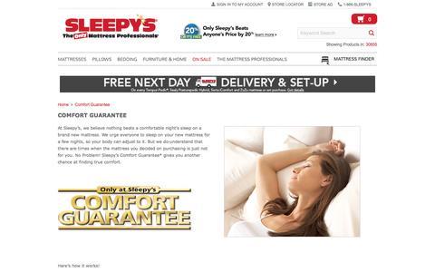 Enjoy Our Comfort Guarantee - Sleepy's