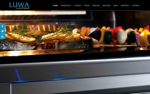 Screenshot of Home Page luwaluxury.com - Home | LUWA Distributing | Fine Appliances and Services - captured Oct. 3, 2014