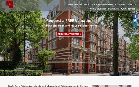 Screenshot of Home Page hydeparkagencies.com - Welcome | Hyde Park Agencies - captured Sept. 30, 2018