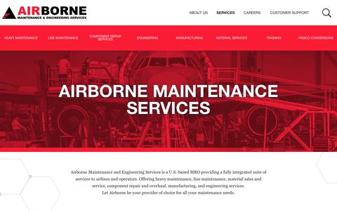 Screenshot of Services Page airbornemx.com - Airborne | Services - captured Nov. 12, 2018
