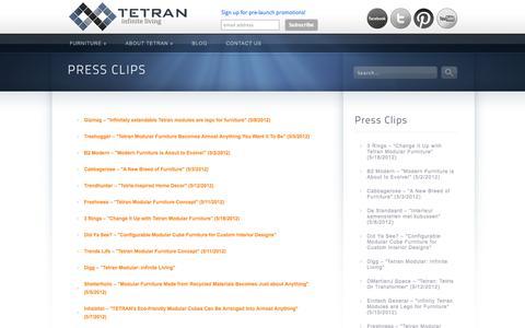 Screenshot of Press Page tetranliving.com - Tetran | Press | TETRAN - captured Oct. 9, 2014