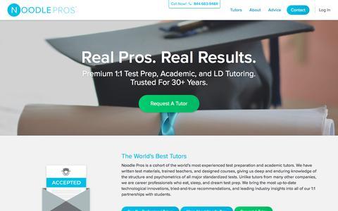 Professional Test Prep & Academic Tutors | Noodle Pros