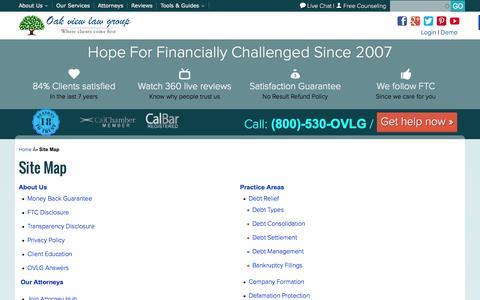 Screenshot of Site Map Page ovlg.com - OVLG Sitemap -OVLG - captured Jan. 22, 2016