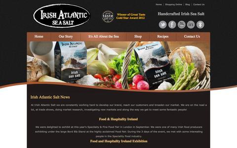 Screenshot of Press Page irishatlanticsalt.ie - Irish Atlantic Salt News - captured Oct. 6, 2014