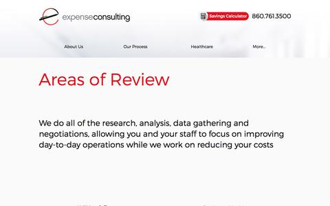 Screenshot of Services Page expenseconsulting.com - Services | Overhead Costs Reduction | Expense Consulting - captured Sept. 1, 2017