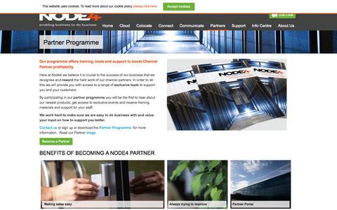 Screenshot of Signup Page node4.co.uk - Partners | Node4 Data Centre Solutions - captured Sept. 24, 2014